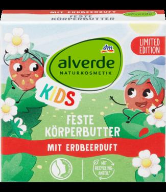 ALVERDE NATURKOSMETIK Alverde Kids Vaste Bodybutter Bar Bio-Aardbei