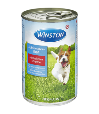 WINSTON WINSTON Hondenvoer Blik 4 Vleessoorten
