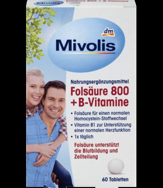 Mivolis Mivolis Foliumzuur 800 + Vitamine B
