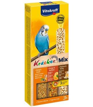 VITAKRAFT VITAKRAFT Parkiet Kräcker Mix Honing, Sinaasappel & Popcorn 3st