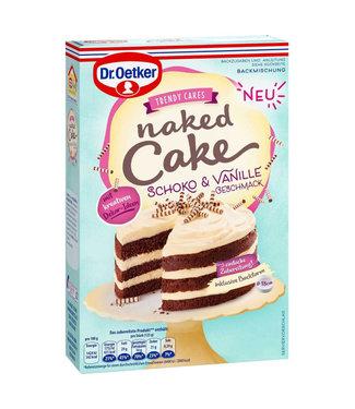 Dr. Oetker Dr. Oetker Naked Cake Chocolade & Vanille Taart Bakmix