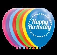 8 ballonnen - HAPPY BIRTHDAY