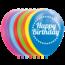 Feest-vieren 8 ballonnen - HAPPY BIRTHDAY