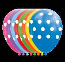 8 ballonnen Stippen