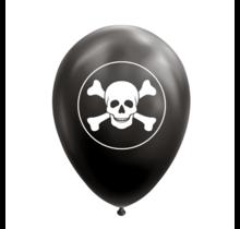 8 ballonnen Piraat/Doodshoofd