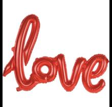 """Folieballon (1 woord) """"Love"""""""