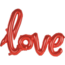 "Feest-vieren Folieballon (1 woord) ""Love"""