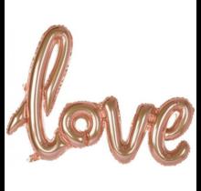 "Folieballon (1 woord) ""Love"" Rosé Goud"