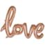"Feest-vieren Folieballon (1 woord) ""Love"" Rosé Goud"