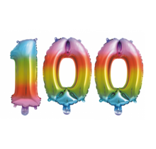 Folieballon 100 jaar Regenboog 41cm