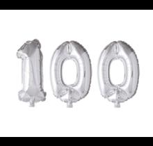 Folieballon 100 jaar zilver 86cm