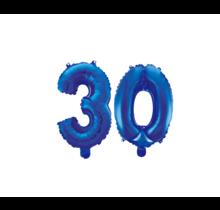 Folieballon 30 jaar blauw 86cm
