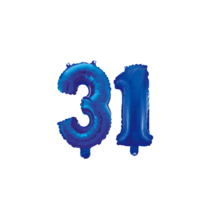 Folieballon 31 jaar blauw 86cm