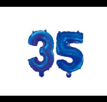 Folieballon 35 jaar blauw 86cm