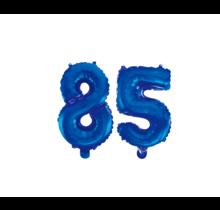 Folieballon 85 jaar blauw 86cm
