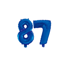 Folieballon 87 jaar blauw 86cm