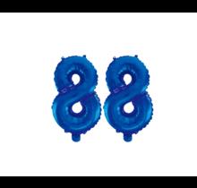 Folieballon 88 jaar blauw 86cm
