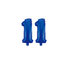 Folieballon 11 jaar blauw 41cm