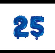 Folieballon 25 jaar blauw 41cm