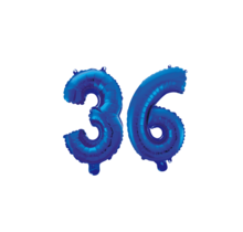 Folieballon 36 jaar blauw 41cm