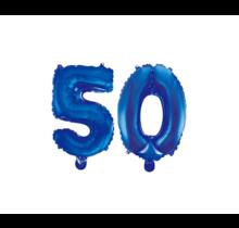 Folieballon 50 jaar blauw 41cm