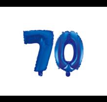 Folieballon 70 jaar blauw 41cm
