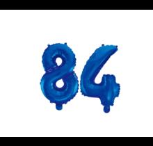 Folieballon 84 jaar blauw 41cm