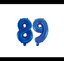Folieballon 89 jaar blauw 41cm