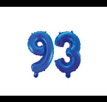 Folieballon 93 jaar blauw 41cm