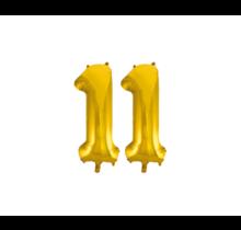Folieballon 11 jaar Goud 86cm