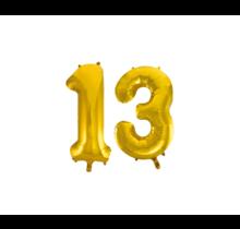 Folieballon 13 jaar Goud 86cm