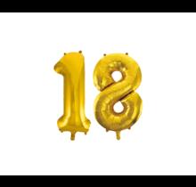 Folieballon 18 jaar Goud 86cm