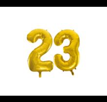 Folieballon 23 jaar Goud 86cm
