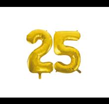 Folieballon 25 jaar Goud 86cm