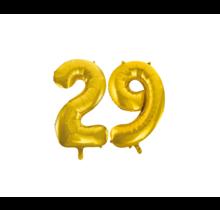 Folieballon 29 jaar Goud 86cm