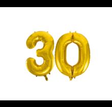 Folieballon 30 jaar Goud 86cm