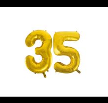 Folieballon 35 jaar Goud 86cm