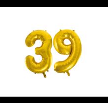Folieballon 39 jaar Goud 86cm