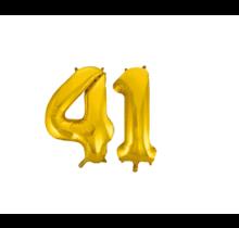 Folieballon 41 jaar Goud 86cm