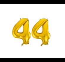 Folieballon 44 jaar Goud 86cm