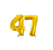 Folieballon 47 jaar Goud 86cm