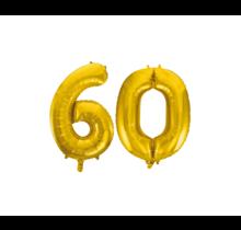 Folieballon 60 jaar Goud 86cm