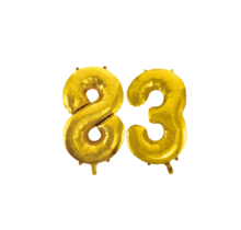 Folieballon 83 jaar Goud 86cm