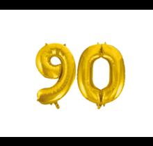 Folieballon 90 jaar Goud 86cm