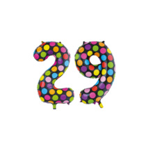Folieballon 29 jaar stippen 86cm