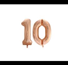 Folieballon 10 jaar Rosé Goud 86cm