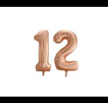 Folieballon 12 jaar Rosé Goud 86cm