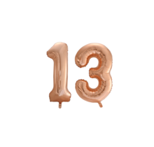 Folieballon 13 jaar Rosé Goud 86cm