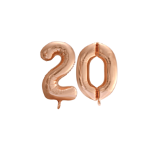 Folieballon 20 jaar Rosé Goud 86cm