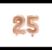 Folieballon 25 jaar Rosé Goud 41cm